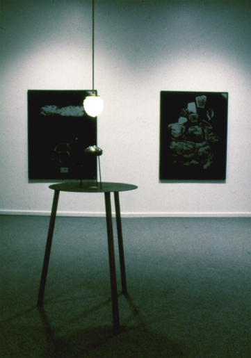 Bill Jones, Installation view Investigation, Meditations, Lamentations, Selections 1970-1990. Presentation House Gallery, North Vancouver BC, Oct 19 - Nov. 25 1990.
