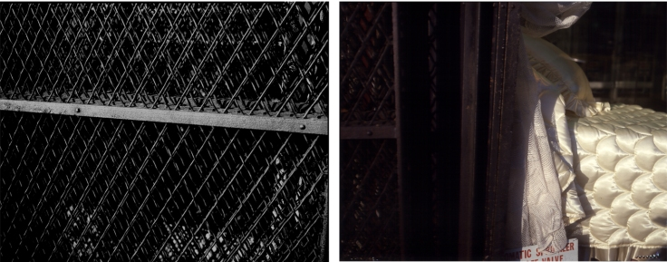 Bill Jones, The Human Condition (Bedroom Suite), 1979, diptych, color and silver print, 61 x 152 cm, 24 x 60 inches