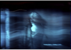 Bill Jones, Blue Maroon, midi controlled slide projections, 1996