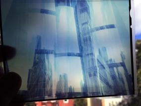 Skynet, digital photo of film transparency, digital print 24 x 30 inches