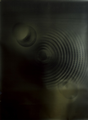 Bill Jones, Orectic Object , 1989, 54 x 80 inches, silver print on gold paper.