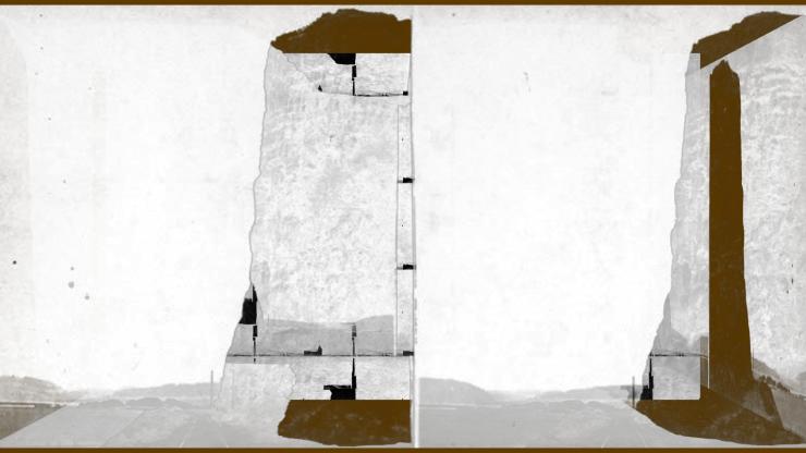 Bill Jones Cape Horn near Celilo # 1, After Carlton E. Watkins, 2016, digital print, 24x36 inches