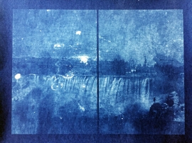 The Photographer, 2017, cyanotype, 26 x 30 inches