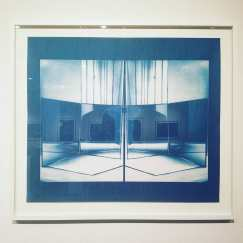After Florence Henri, 2017, cyanotype 30 x 34 inches.