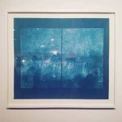 The Photographer, 2017, cyanotype 30 x 34 inches.