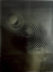 Orectic Object # 2, 1989, unique cameraless silver print on gold paper, 48 x 72 inches. Collection of the artist.