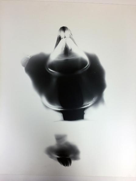 Black Heart 6, 1991, unique silver print, 20 x 24 inches