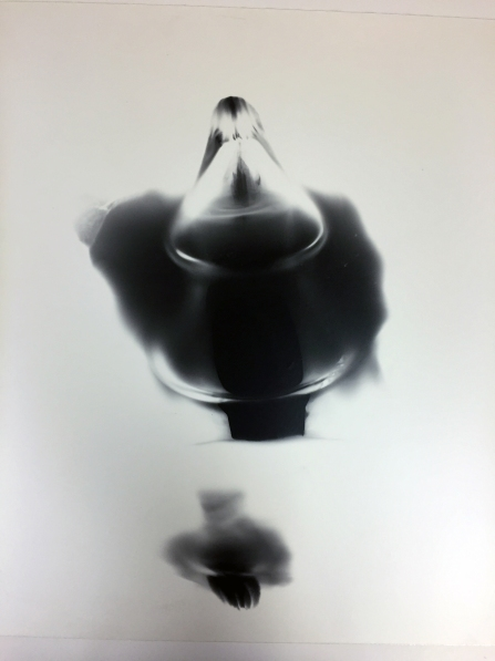 Black Heart 6, 1991, unique silver print, 20 x 24 inches