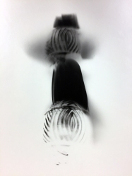 Black Heart 4, 1991, unique silver print, 20 x 24 inches
