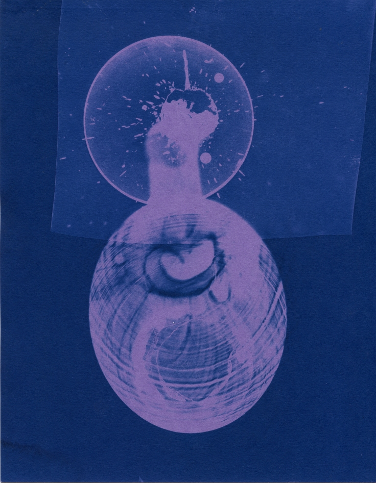 spill 25, cyanotype, 2016, 8x10 inches