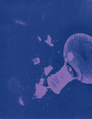 spill 3, cyanotype, 2016, 8x10 inches