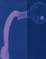 spill 2, cyanotype, 2016, 8x10 inches