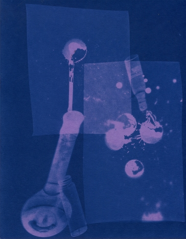 spill 24, cyanotype, 2016, 8x10 inches