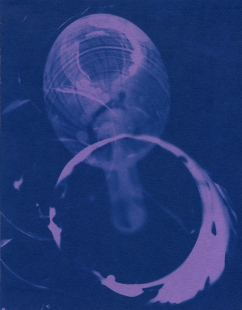 spill 20, cyanotype, 2016, 8x10 inches