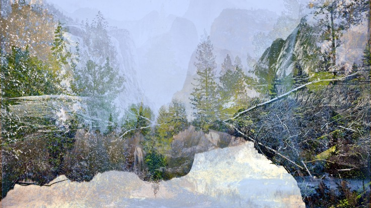 Looking Down Yosemite Valley, 2018, archival print, 20 x 35 inches